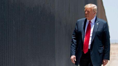 President Trump participates in a ceremony commemorating the