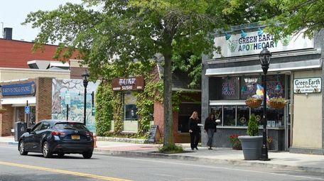 Downtown Main Street in Riverhead is seen on