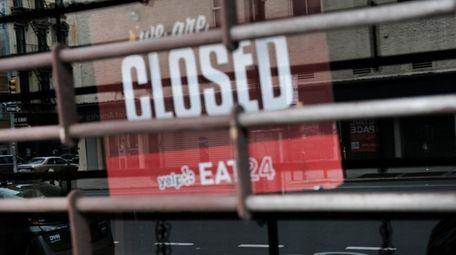 NEW YORK CITY - APRIL 17: A closed
