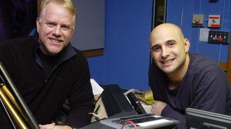 Boomer Esiason and Craig Carton in the studio