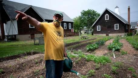 Skip Wade, garden manager of St. Francis Episcopal
