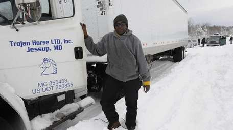 Truck driver Saineba Ceesay says was stuck for