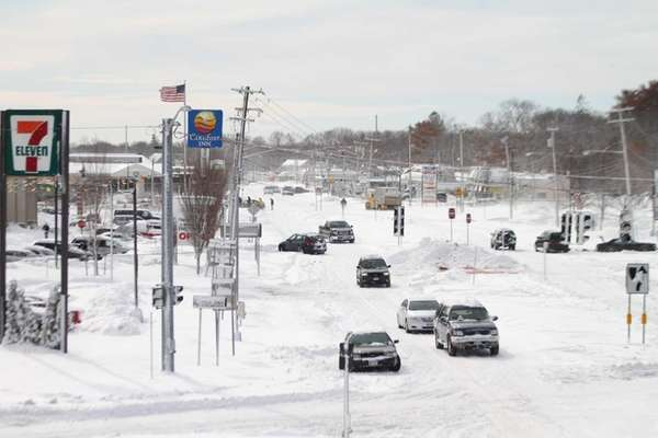 Drivers brave the snow on Route 112. (Feb.