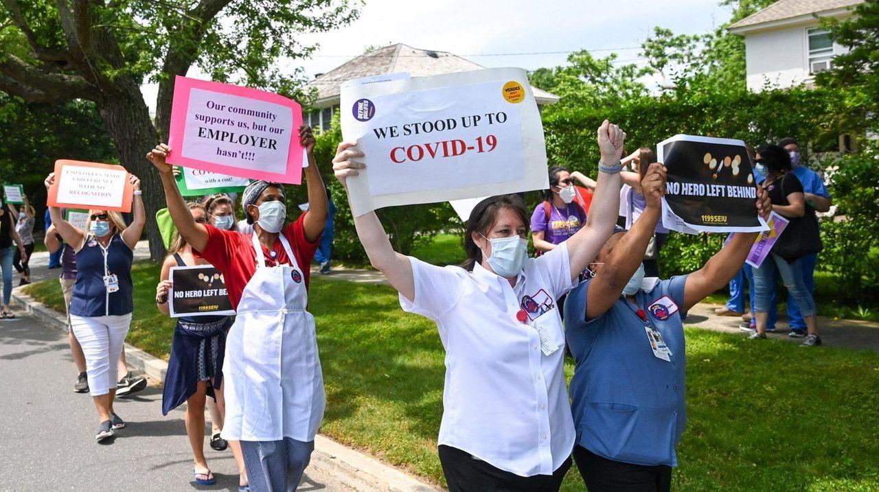 Nurses at Stony Brook Southampton Hospital are demanding