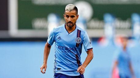 New York City FC midfielder Maxi Moralez (10)