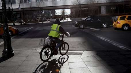 Delivery workers often use electric bikes to do