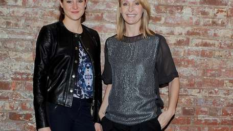 Actress Shailene Woodley, left, and designer Rebecca Taylor