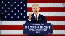 Presumptive Democratic presidential nominee Joe Biden last week