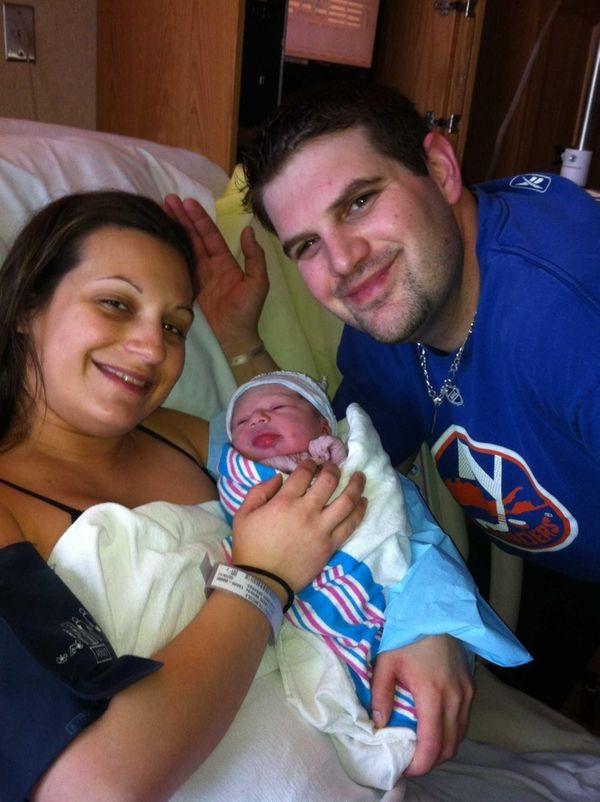 Nicole, Scott and Harper Perretta. (Feb. 9, 2013)