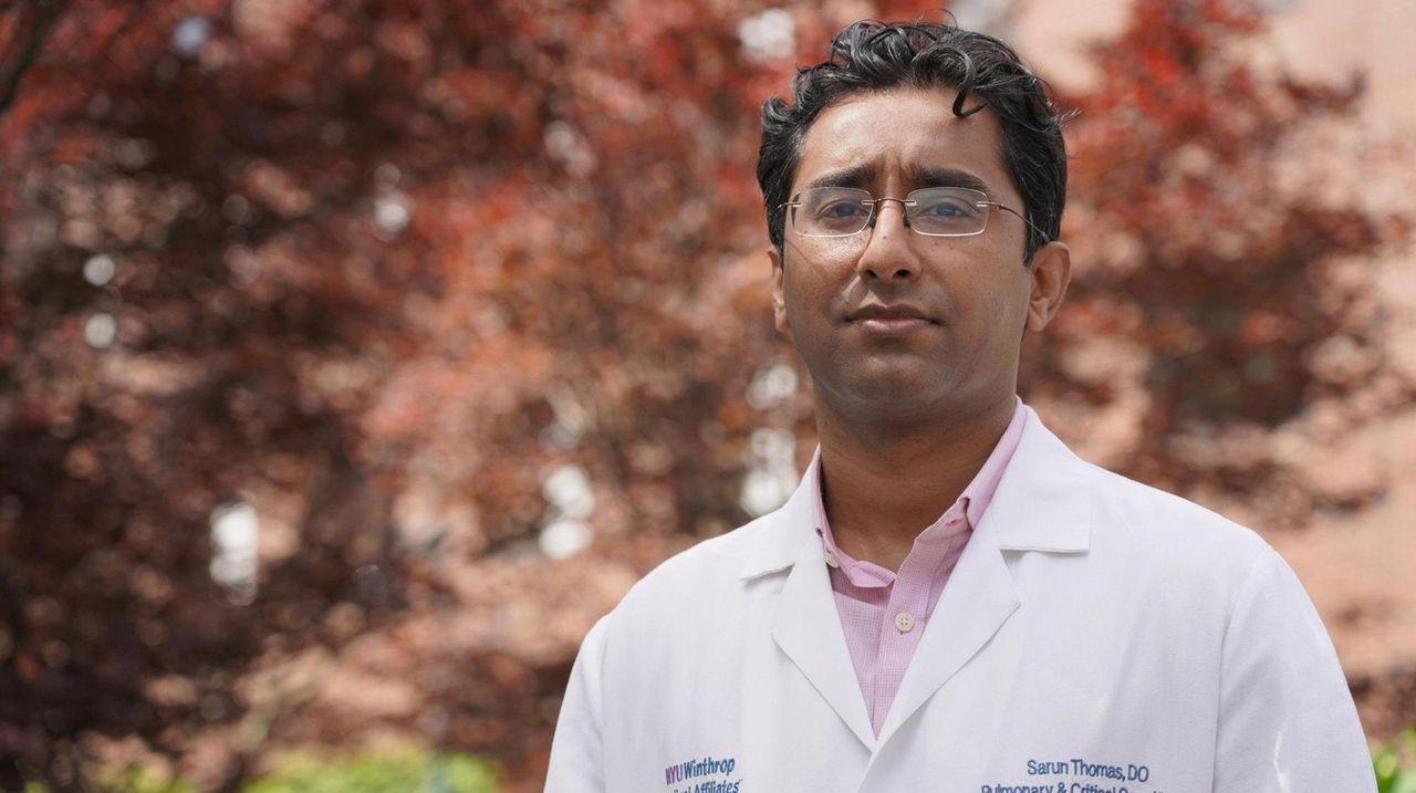 Dr. Sarun V. Thomas, director of the Intensive