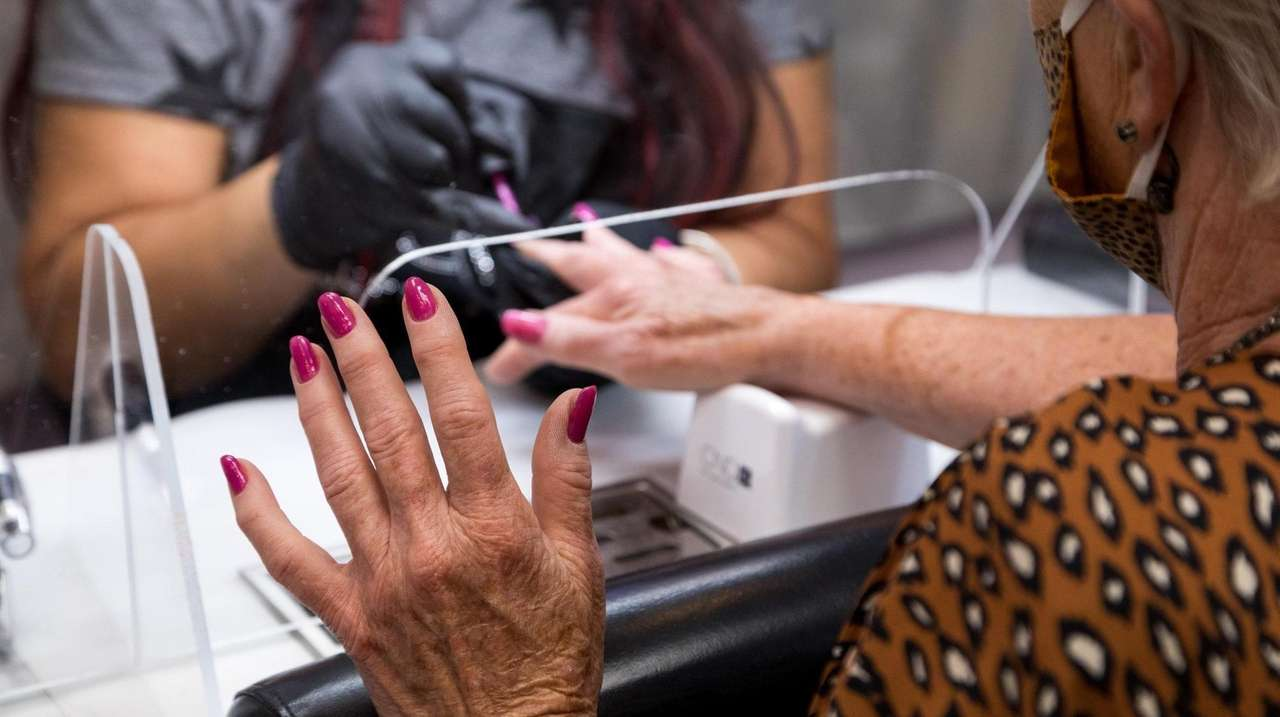 Nail salons are making a return Wednesday, as