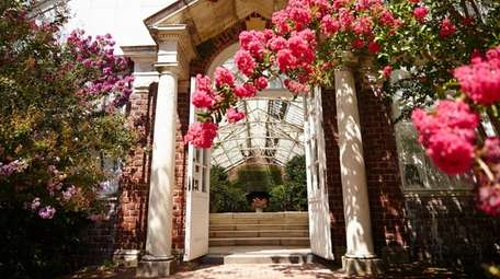 The Camellia House in Planting Fields Arboretum in