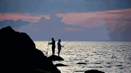 Fishing for bluefish at Wildwood State Park in