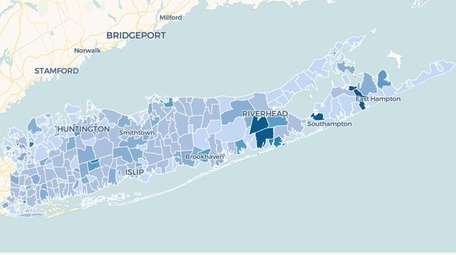 This map shows the concentration of cases in