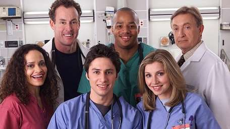 """The cast of the sitcom """"Scrubs,"""" which ran"""
