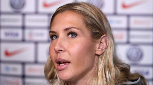 Allie Long during the United States Women's National