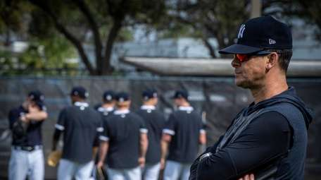 Yankees' manager Aaron Boone during spring training in