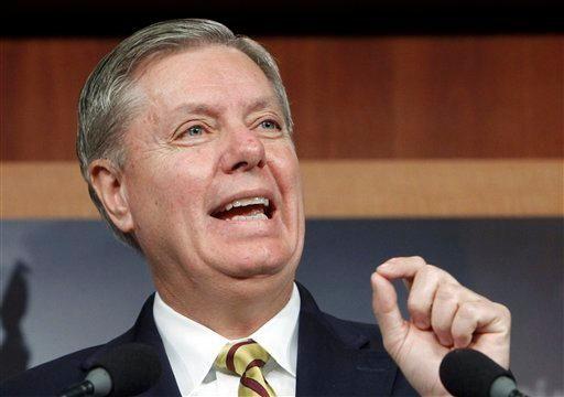 Sen. Lindsey Graham, R-S.C., speaks during a Capitol