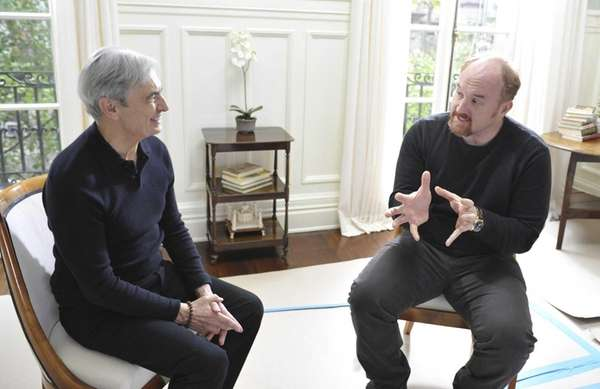 "David Steinberg and Louis CK in ""Inside Comedy."""