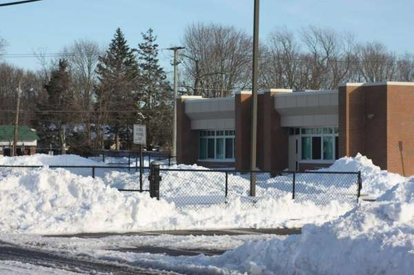 Waist-deep snow surrounds Connetquot School District's John Pearl