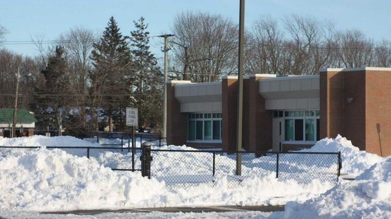 Waist-deep snow surrounds Connetquot School District's John Pearl