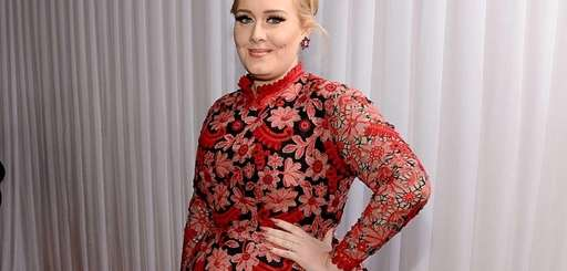 Adele arrives at the 55th Grammy Awards in