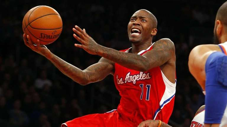 Los Angeles Clippers guard Jamal Crawford goes to