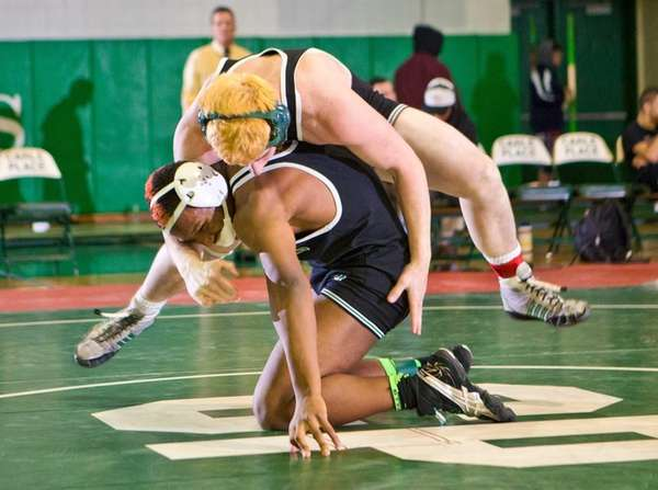 Locust Valley's Yamique Webb, left, beat teammate Joe