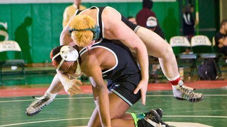 Locust Valley's Yamique Webb, left, beat teammate Joe