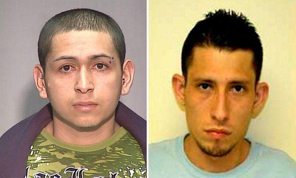 Leaders of the MS-13 gang Heriberto Martinez, left,