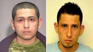 Leaders of the MS-13 gang Heriberto Martinez, left,