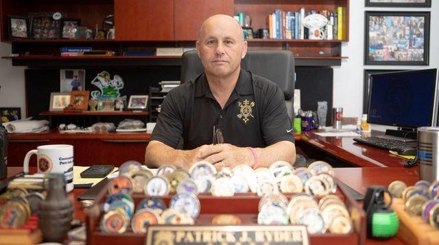 Nassau Police Commissioner Patrick Ryder earlier this month.