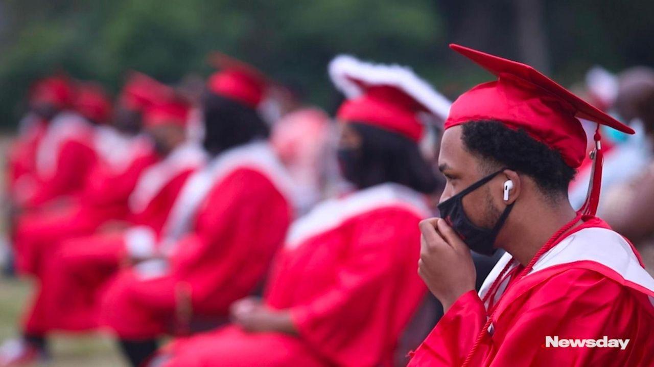 High school graduations were held across Long Island