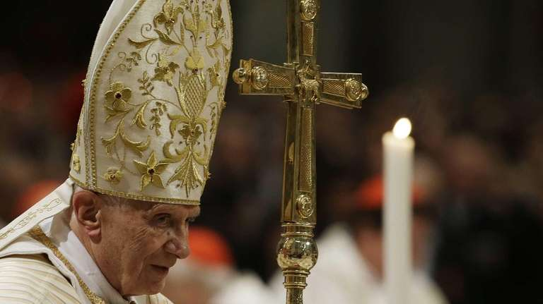 Pope Benedict XVI celebrates the Christmas Eve Mass