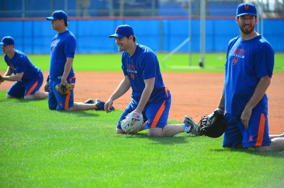 Mets infielders Daniel Murphy and Ike Davis take