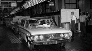 The last Edsel to be built, a tan