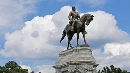 The statue of Confederate General Robert E. Lee