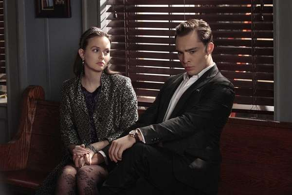 Leighton Meester as Blair Waldorf and Ed Westwick