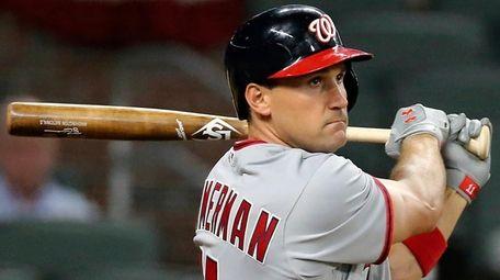 The Nationals' Ryan Zimmerman watches his grand slam