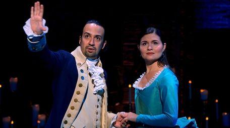Lin-Manuel Miranda is Alexander Hamilton and Phillipa Soo
