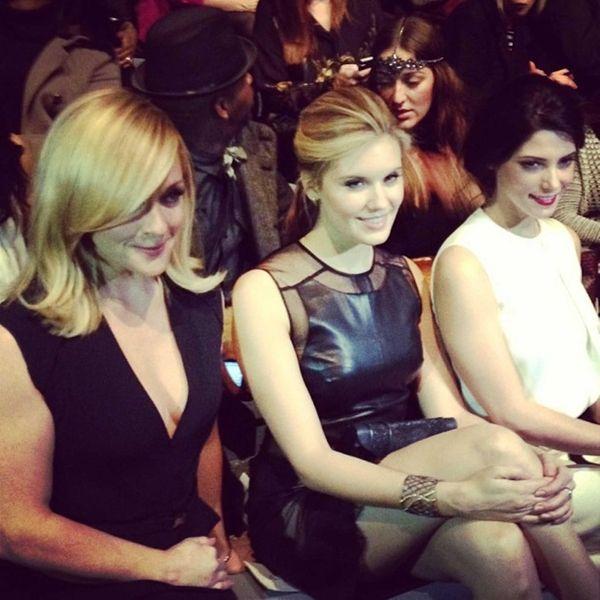 Front row @KaufmanFranco Jane Krakowski, Maggie Grace &