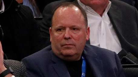 Knicks president Leon Rose watches his team play