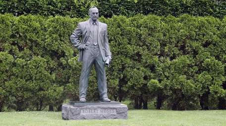 A statue of Robert Moses on June 18,