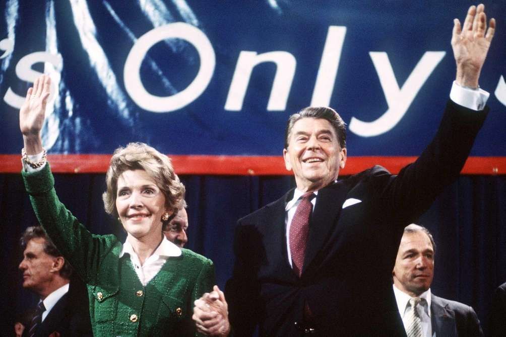 Ronald and Nancy Reagan: After his marriage to