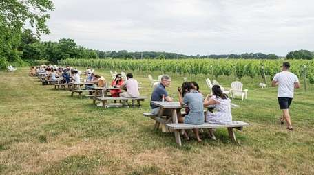 The lawn area at Bedell Cellars in Cutchogue.