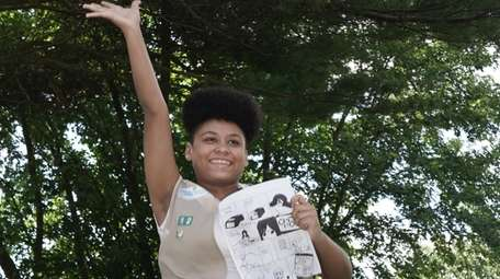 Girl Scout Nevaeh Allen of Middle Island completed
