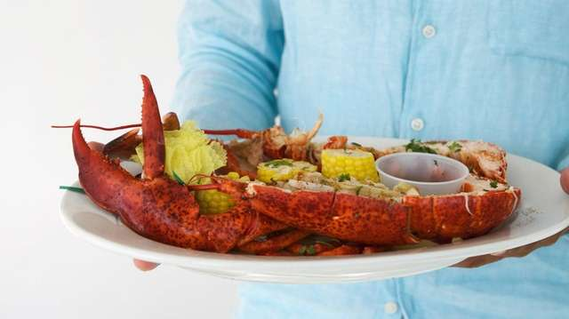 Two-pound lobsters are served steamed or grilled at