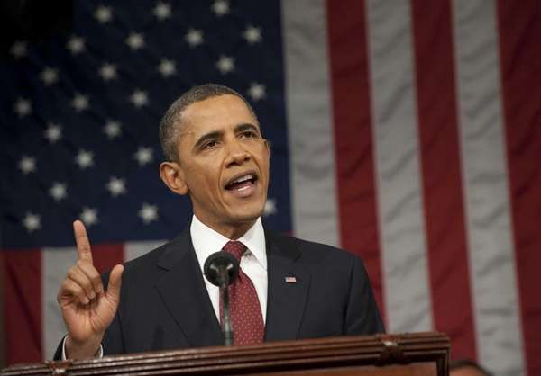 President Barack Obama speaks during his State of