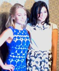 Actresses AnnaSophia Robb, left, and Vanessa Hudgens, right,