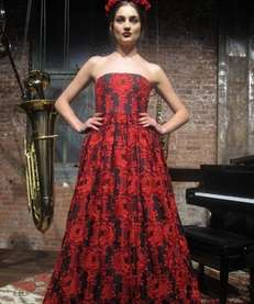 A model wears Alice + Olivia Fall 2013